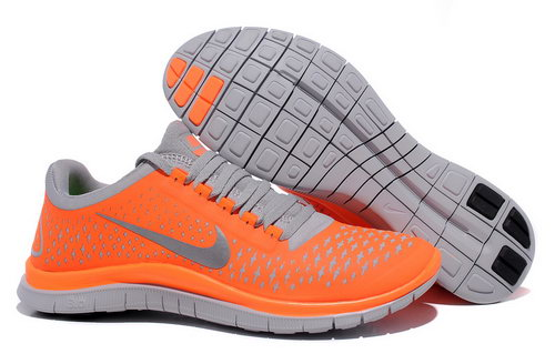 Nike Free Run 3.0 V4 Mens Orange Reflective Silver Wolf Gray Denmark